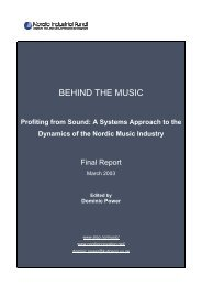 Behind the music - profiting from sound - Nordic Innovation