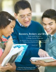 Boosters, Brokers and Bridges: - Indiana Pathways to College Network