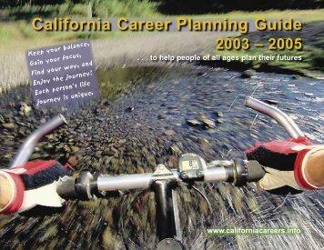 California Career Planning Guide 2003-2005 - CaliforniaCareers.info