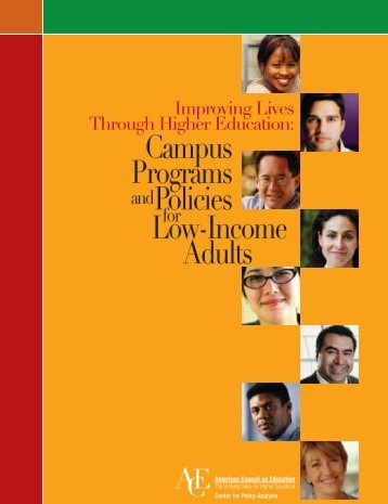 Campus Programs and Policies for Low-Income Adults - Indiana ...