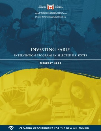 INVESTING EARLY - Institute for Higher Education Policy (IHEP)