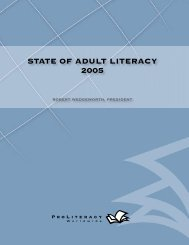 state of adult literacy 2005 - Indiana Pathways to College Network