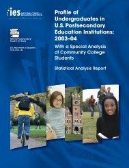 Profile of Undergraduates in US Postsecondary Education Institutions