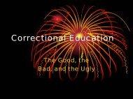 Correctional Education