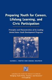 Preparing Youth for Careers, Lifelong Learning, and Civic Participation