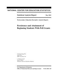 Persistence and Attainment of Beginning Students With Pell Grants