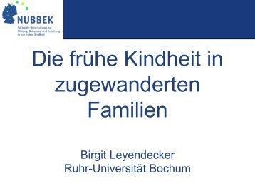 Birgit Leyendecker, Ruhr-Universität Bochum - NUBBEK - Nationale ...
