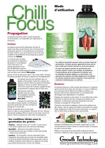 GT725 Chilli Focus instructions - French.indd - Growth Technology