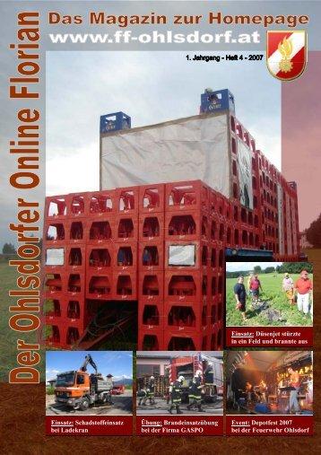 Einsatz - Freiwillige Feuerwehr Ohlsdorf