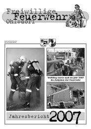 Jahresbericht 2007 - Freiwillige Feuerwehr Ohlsdorf
