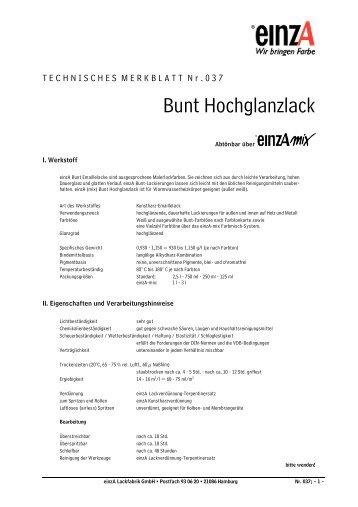 Bunt Hochglanzlack - einzA