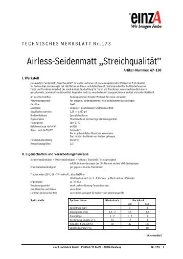 """Airless-Seidenmatt """"Streichqualität"""" - einzA"""