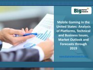 US Business Issues in Mobile Gaming Market Forecast 2019