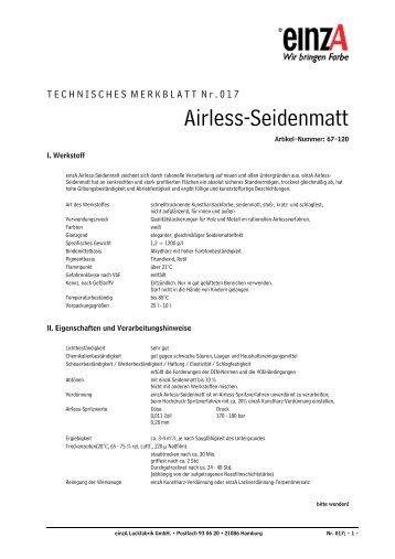 Airless-Seidenmatt - einzA