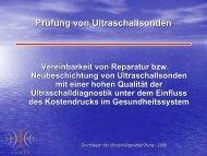 Prüfung von Ultraschallsonden - medizintechnik lange
