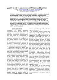 Quality Control Automation of Ultrasound Scanners - medizintechnik ...