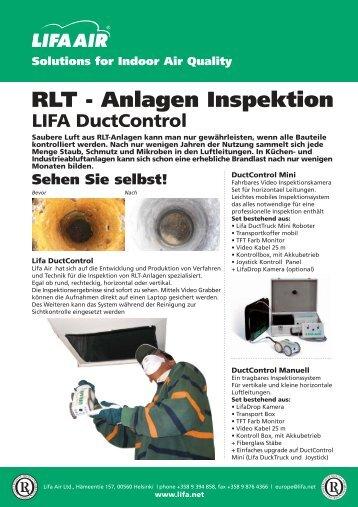 RLT - Anlagen Inspektion - Lifa.net