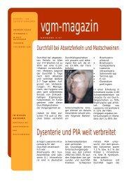 Dysenterie und PIA weit verbreitet - pig-portal.de
