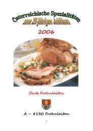 Österreichische Spezialitäten - Club Frohnleiten