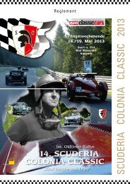 Reglement - Scuderia Colonia