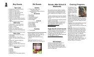Scout Program Brochure - Tenafly Nature Center