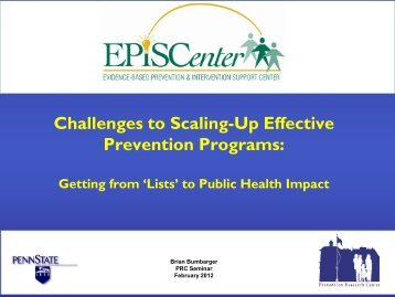 presentation - Prevention Research Center - Penn State University
