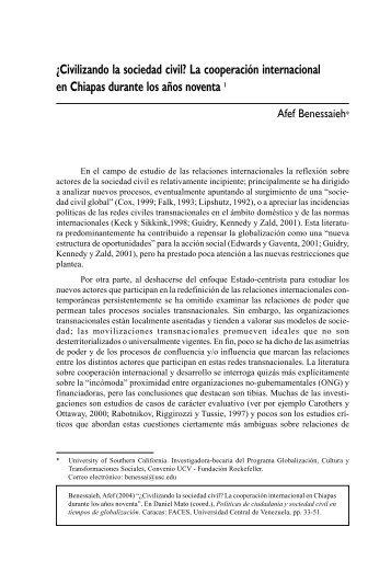 ¿Civilizando la sociedad civil? - Programa Cultura, Comunicación y ...