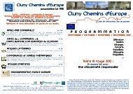 Programme Cluny Chemins d'europe - France sans armes nucléaires