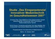 Download Präsentation Studie - Innovationsforum Medizintechnik ...