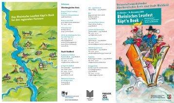 "Flyer zu ""Käpt""n Book"" - Schloss Homburg"