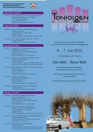 4. - 7. Juli 2013 Alte Welt - Neue Welt - Schloss Homburg