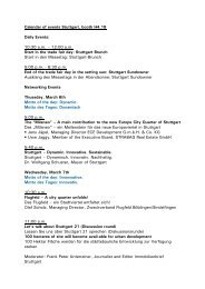Calendar of events Stuttgart, booth H4.18 Daily Events: 10:30 a.m. ...