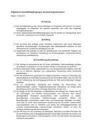 Allgemeine Geschäftsbedingungen bauwerk.ingenieurbuero