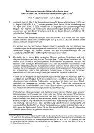 Liste der Technischen Baubestimmungen (LTB)