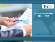 Market Strategies for Carrier Cloud Services Market 2014 - 2019