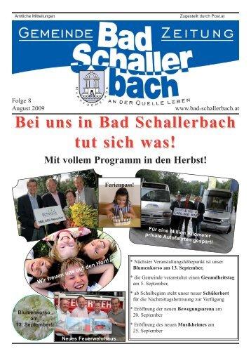Bei uns in Bad Schallerbach tut sich was! - Gemeinde Bad ...
