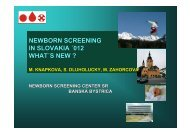 NEWBORN SCREENING IN SLOVAKIA ´012 WHAT´S NEW ?