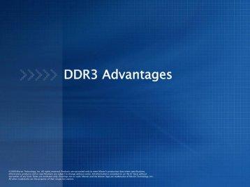 DDR3 Advantages Presentation - Micron
