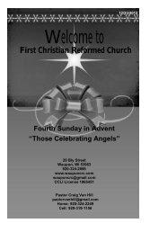 December 23 - First Christian Reformed Church