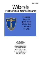 April 21 Evening-Cadet Service - First Christian Reformed Church
