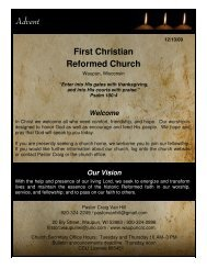 Advent - First Christian Reformed Church