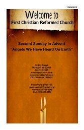 December 9 - First Christian Reformed Church