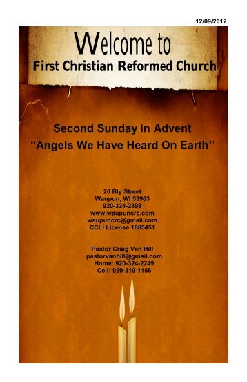 December 9 - First Christian Reformed Church