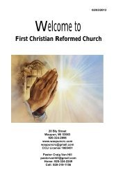 February 3 - First Christian Reformed Church