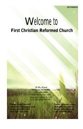 July 15 - First Christian Reformed Church