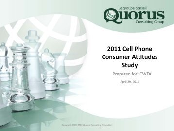2011 Cell Phone Consumer Attitudes Study - Canadian Wireless ...
