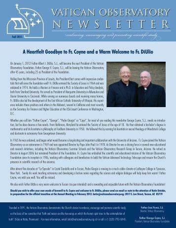 Newsletter Fall 2011 - Vatican Observatory