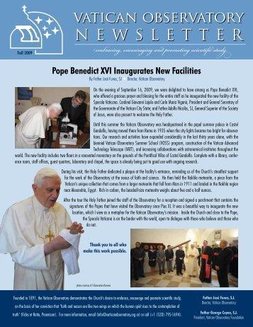 Newsletter Fall 2009 - Vatican Observatory
