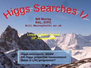 Higgs 3 Bill Murray - High Energy Physics Group