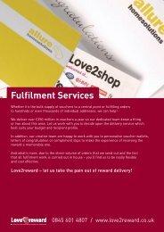 Fulfilment Services - Love2reward